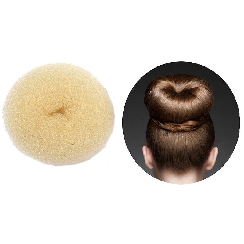 Hair Donut Bun Maker Ring Style Mesh Chignon Ballet Bun Updo Large Beige